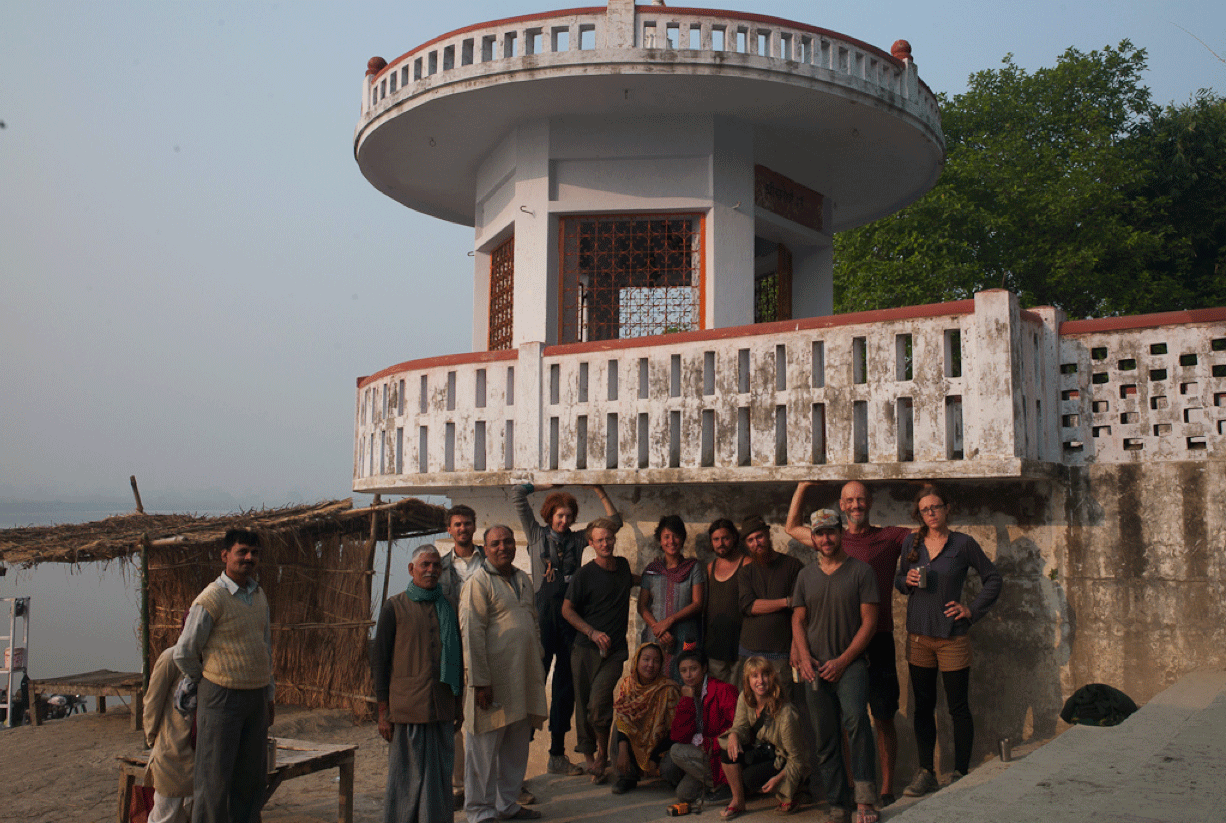 Copy of Swimming Cities at an ashram on the Ganges River