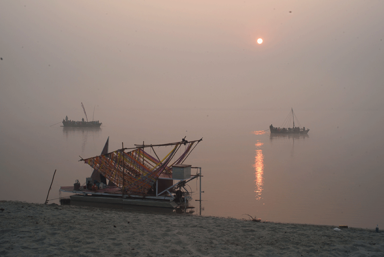 Ferry boats on the Ganges River