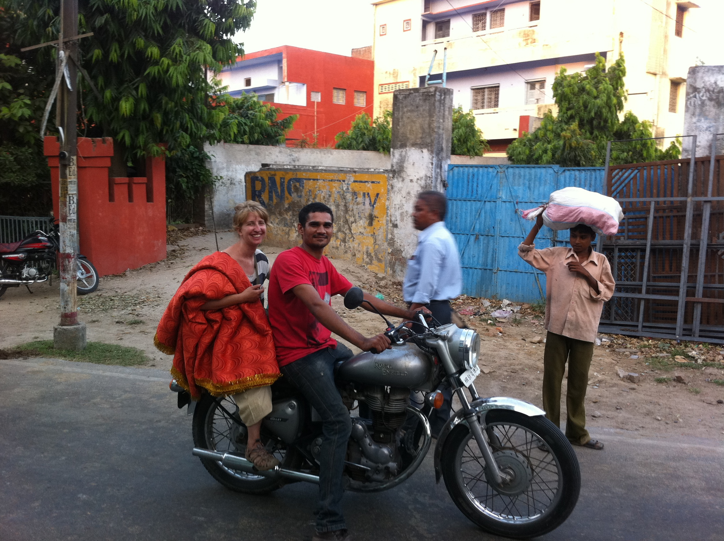 Marin and Satbir in Farrukhabad, India