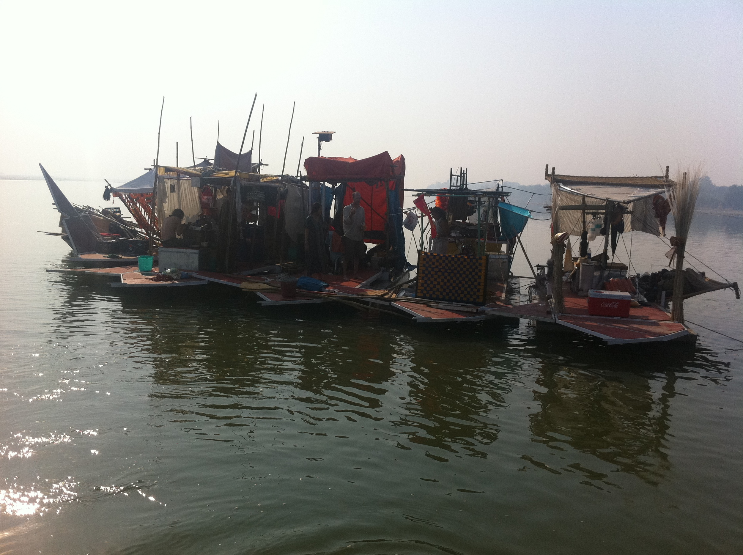 Copy of The Swimming Cities boats on the Ganges.