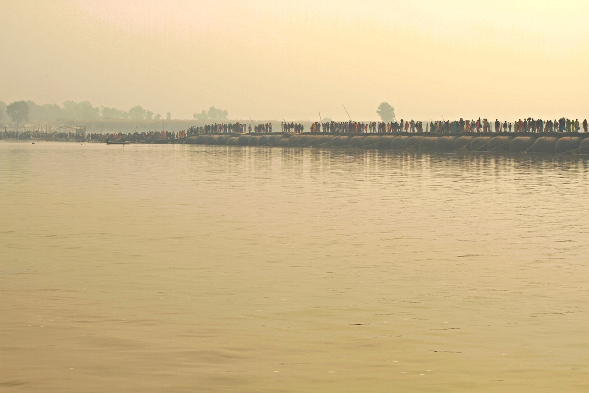 Copy of Procession over Floating Bridge on the Ganges River.