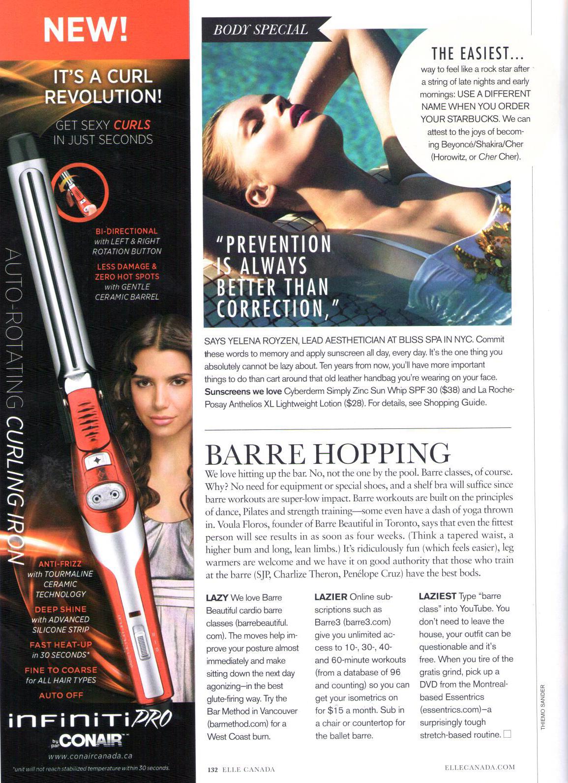 July 2013 Elle Magazine