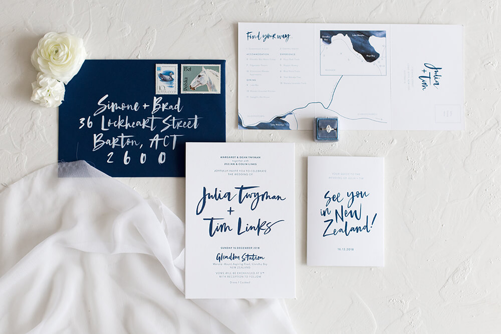 Indigo - Minimal in the best way - the Indigo suite focuses on dramatic lettering with plenty of refreshing white space.