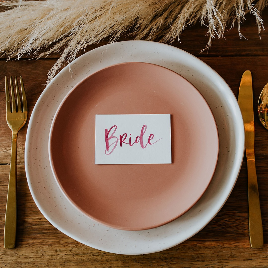 Flat Place Cards - $1 / cardAvailable in a range of colours.
