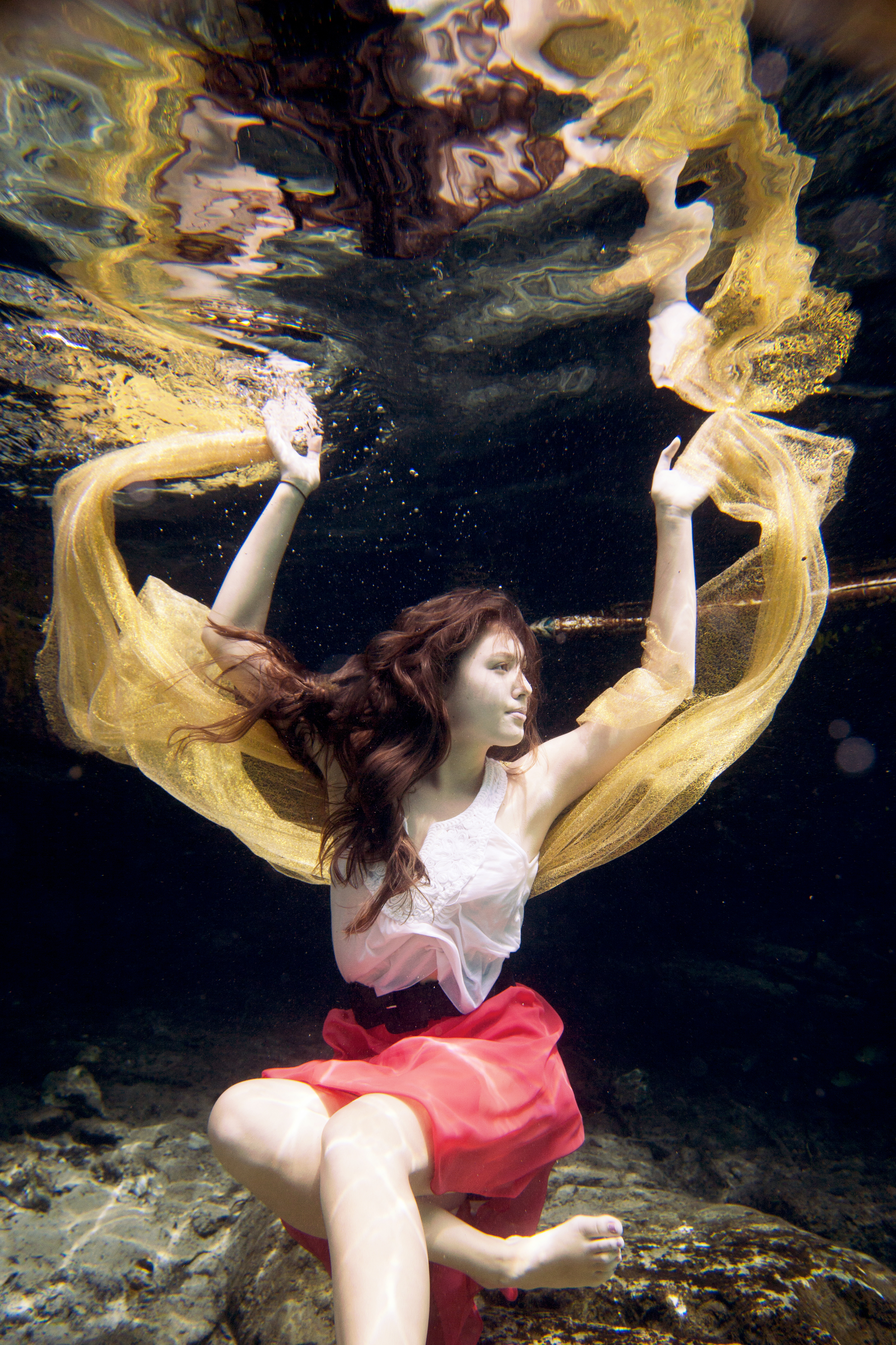 Underwater Senior Portraits