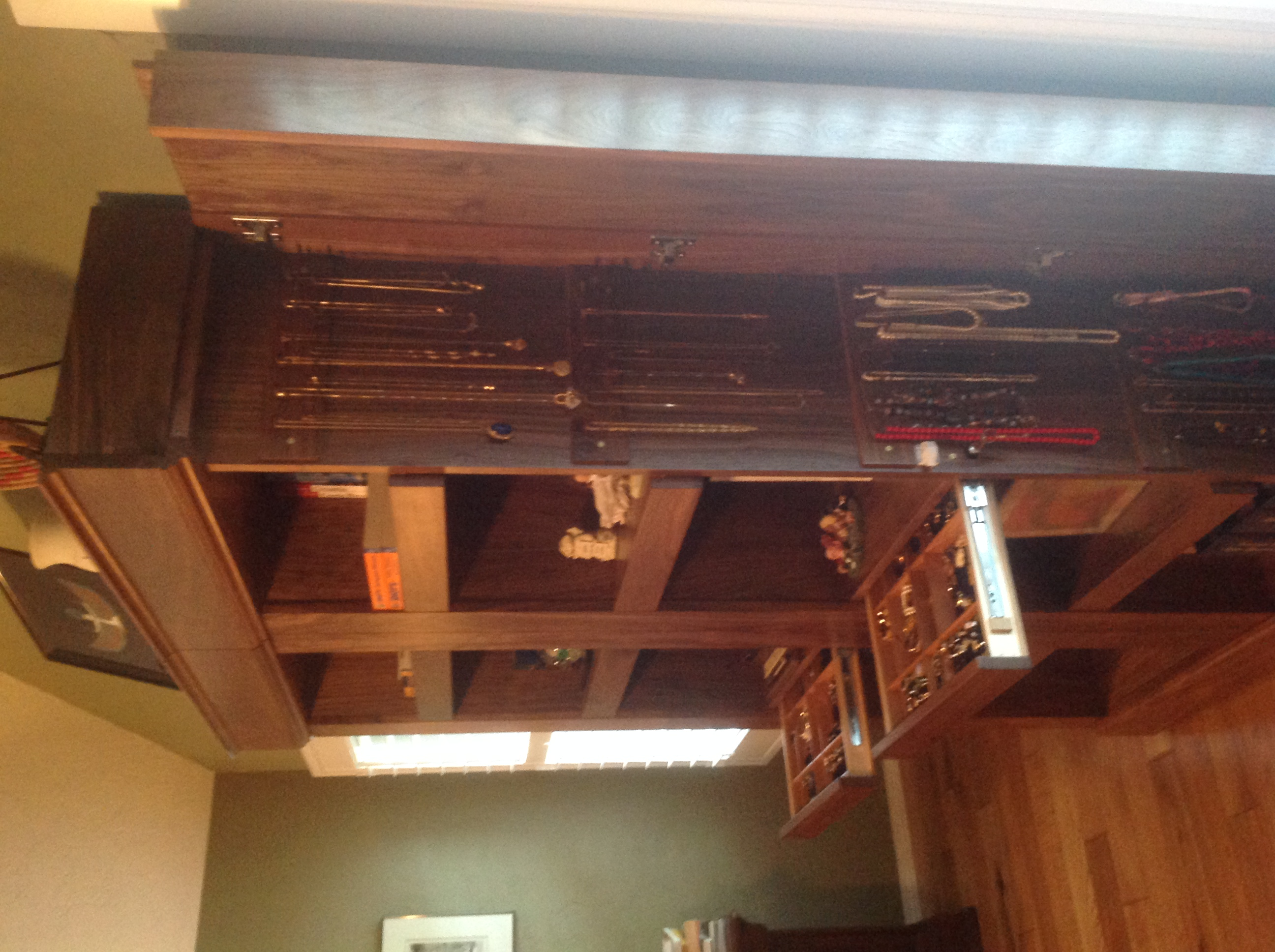 Custom Jewelry Bookcase in American Black Walnut