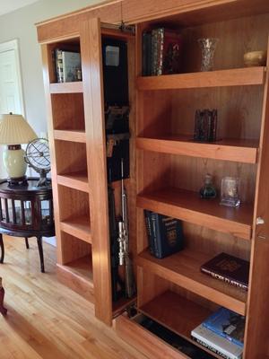 Qline Sauard Shelving System Double, Secret Compartment Furniture
