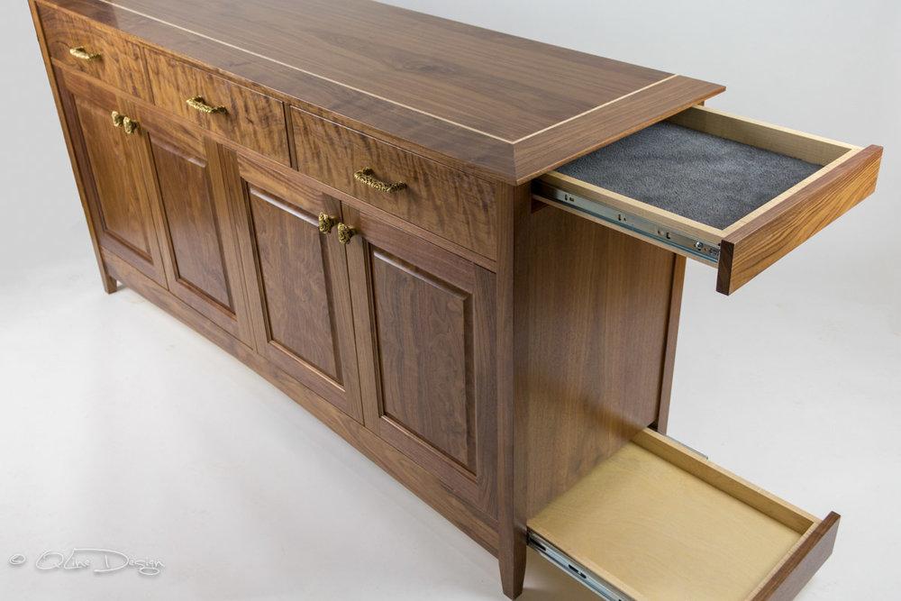 Qline Huntboard With, Secret Compartment Furniture