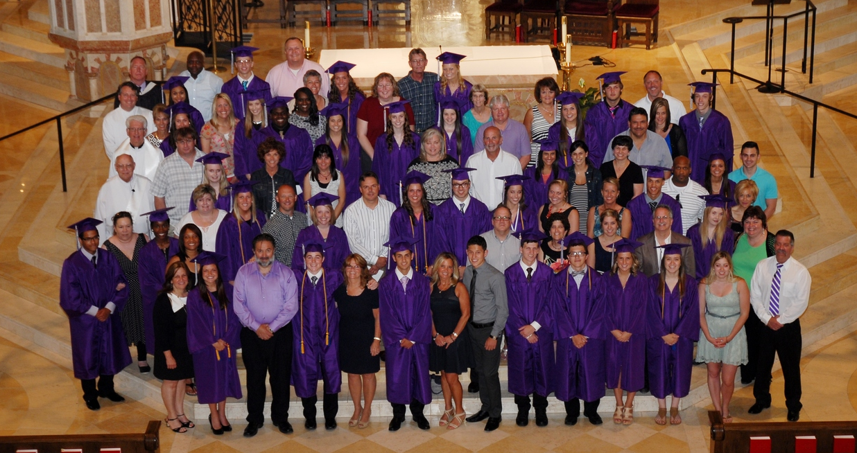 A new Tradition was started in 2008 as we began photographing SFDHS alumni parents with their children after the Baccalaureate Mass.