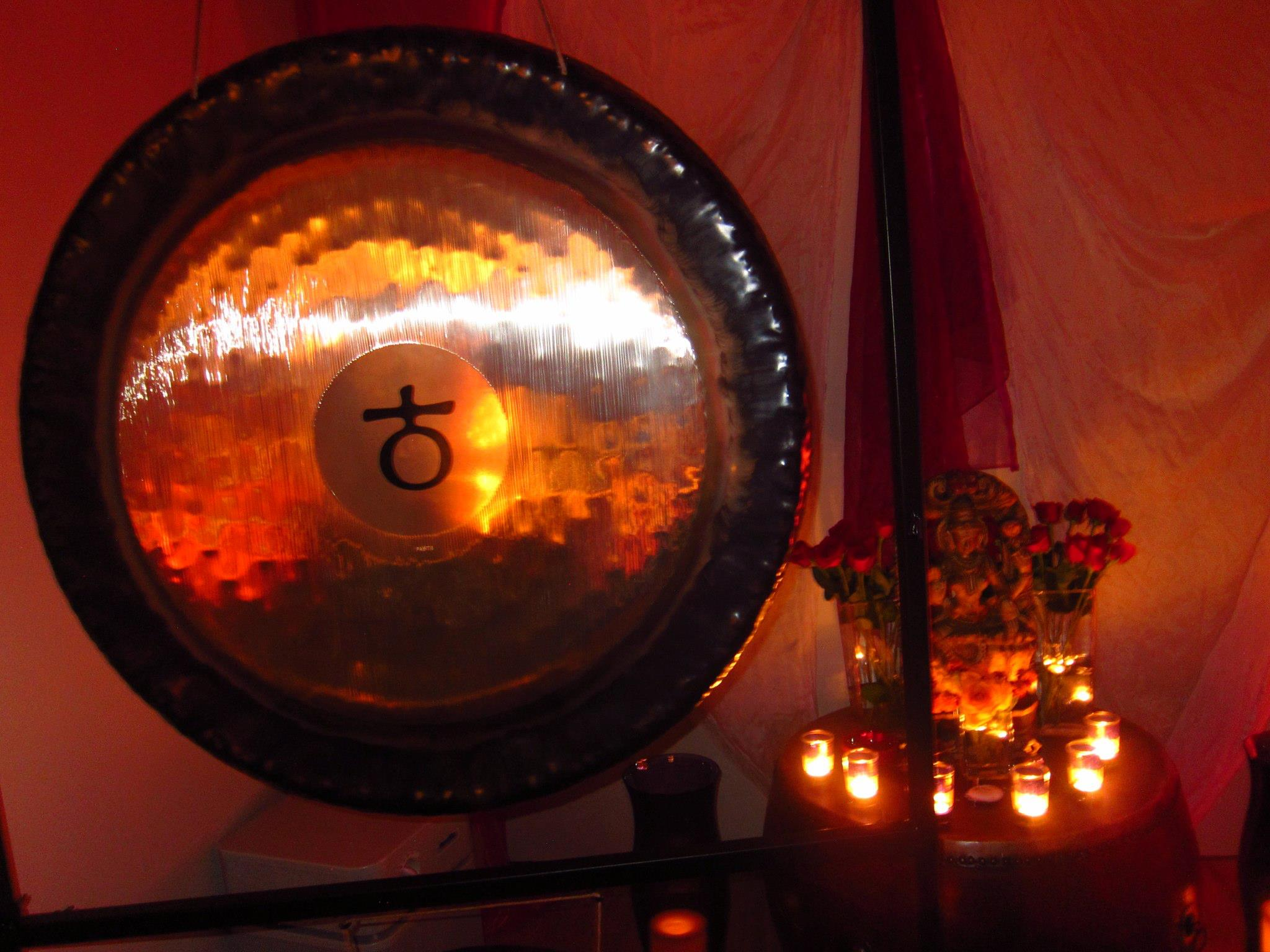 NYE 2011 earth gong with candles.jpg
