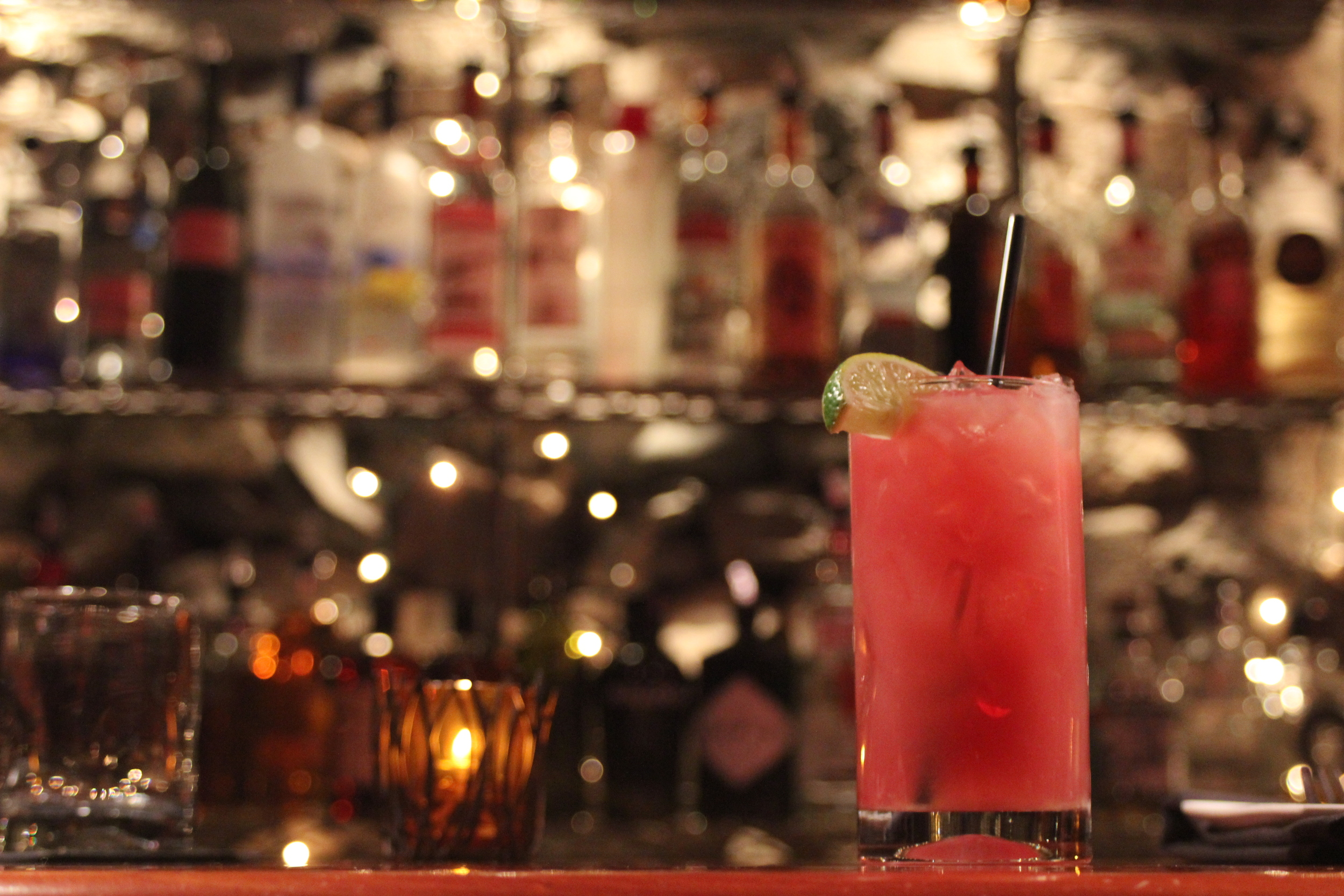The Crooked Lane Margarita, as shown here on the bar in the Wine Cave.