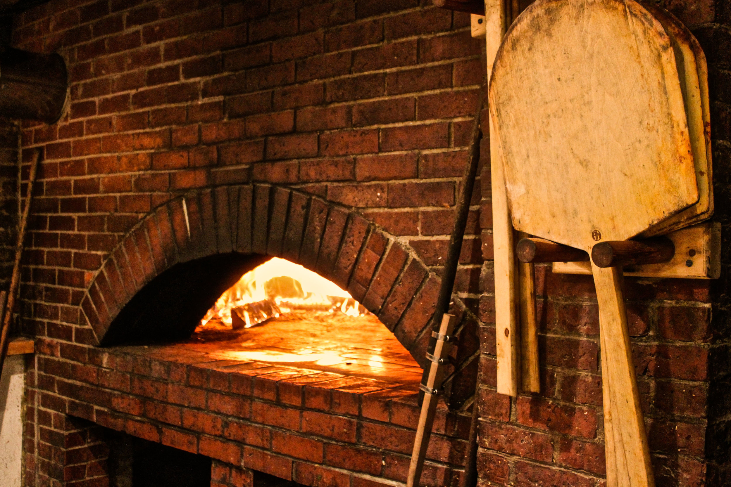 The famous brick oven behind the Pizza Pub's award-winning pizza
