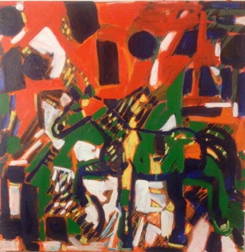 """Parade ( Oil 36""""x36"""")"""