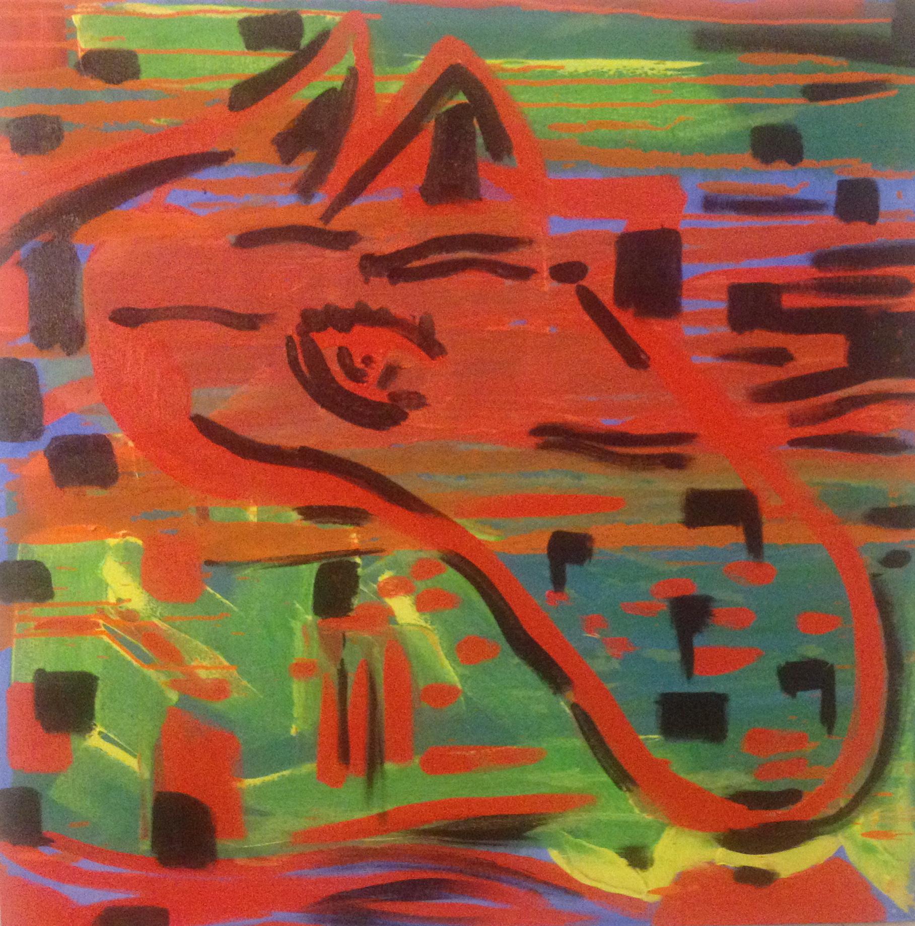 """On My Mind  ( Oil 36""""x36"""")"""