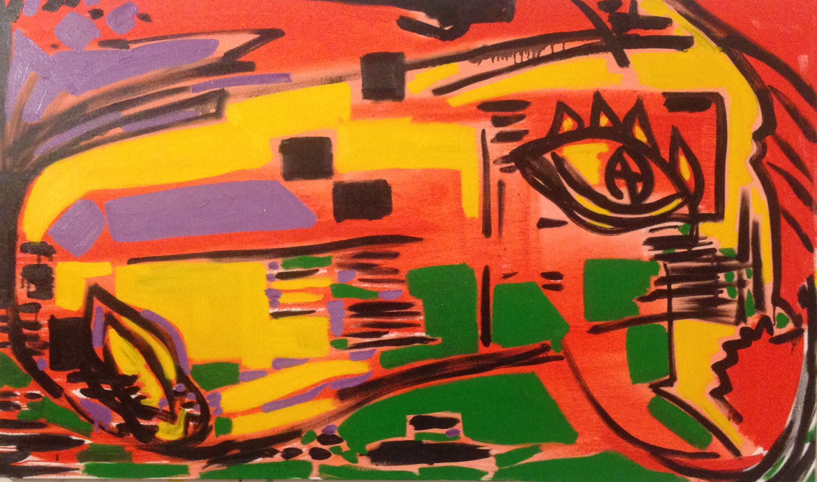 """I See You  (Oil 30""""x60"""")"""