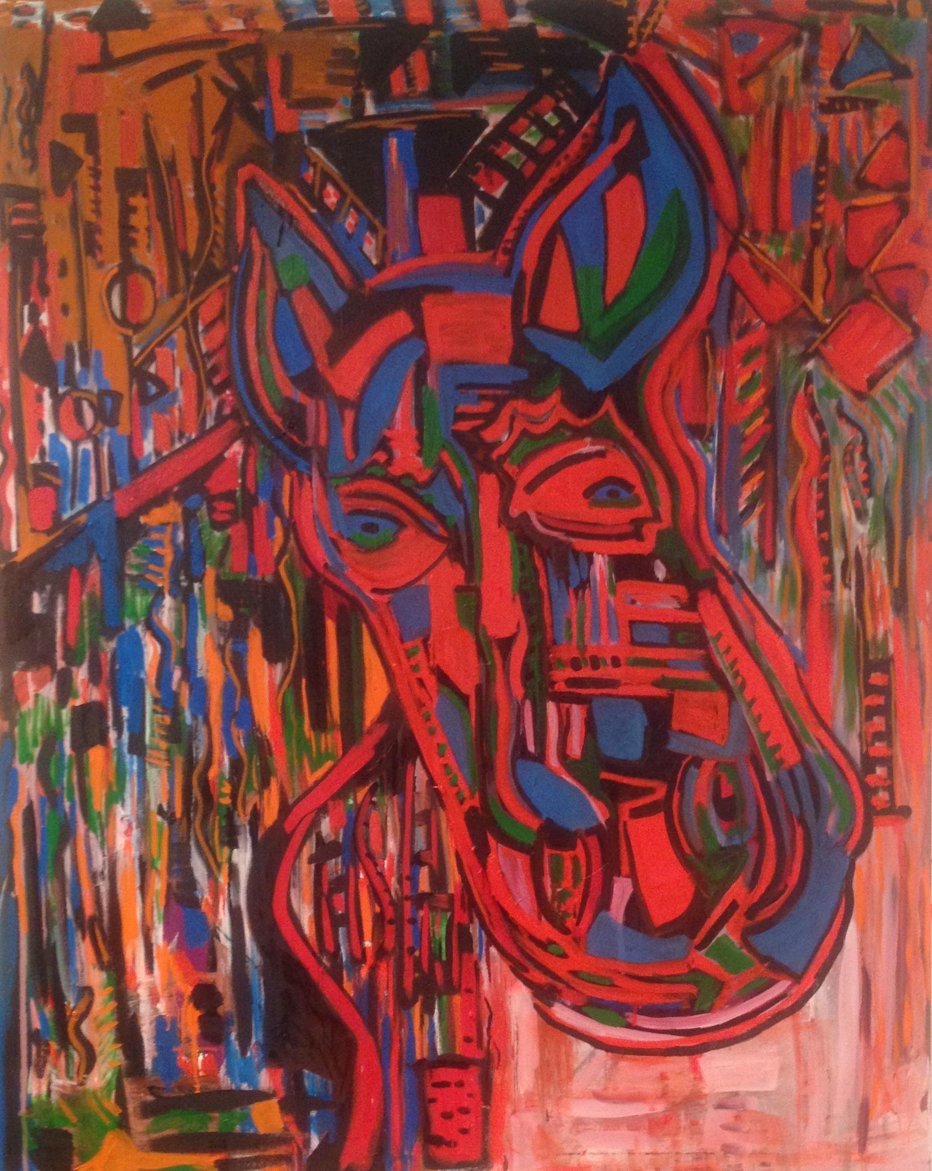 Exotice ( Oil 60 x 48)
