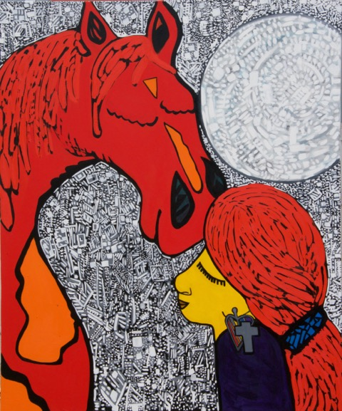 "Midnight Prayer (Oil 72""x60"")"