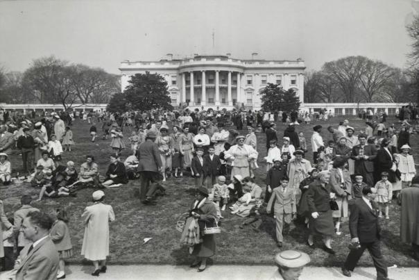 White House Easter Egg Roll, 1953;  The White House