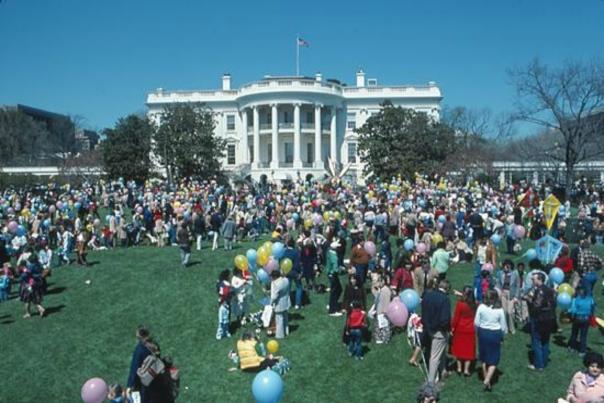 White House Easter Egg Roll, 1982;  The White House