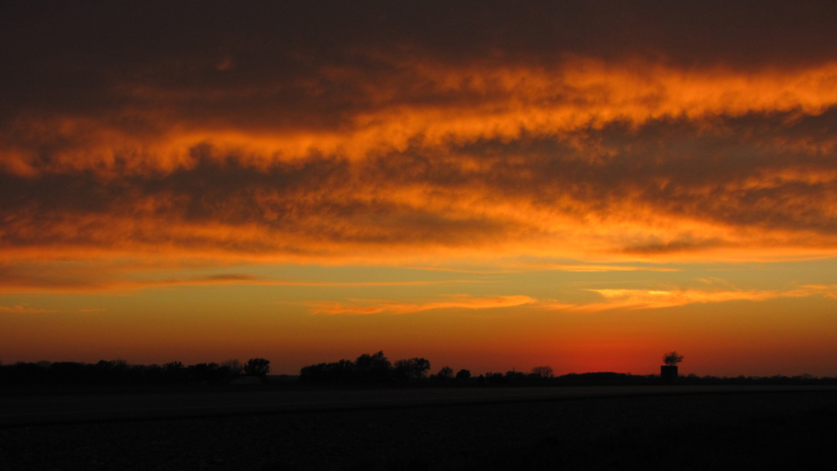 BLAZING SUNSET, PHOTOGRAPH