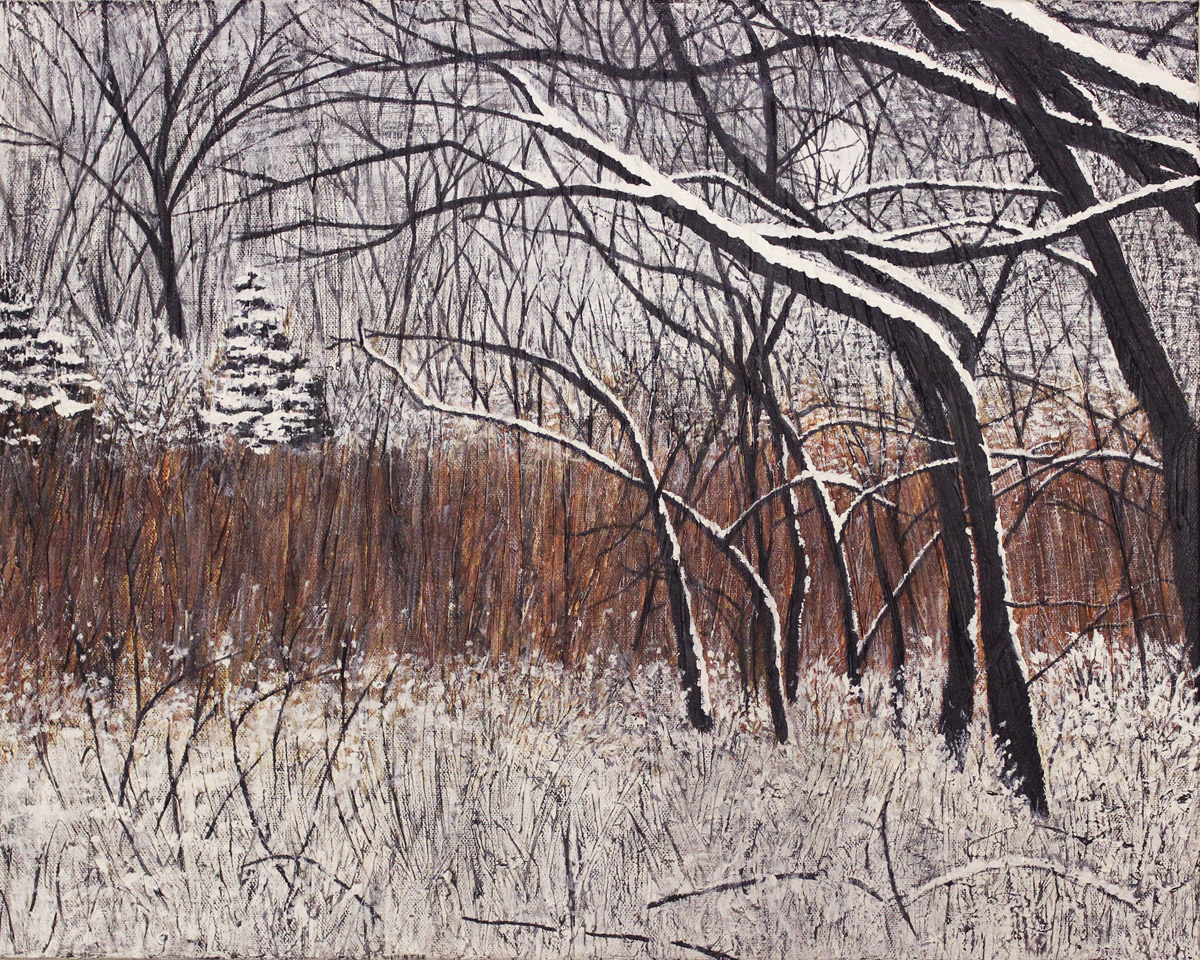 IN THE THICKET OF WINTER, ACRYLIC