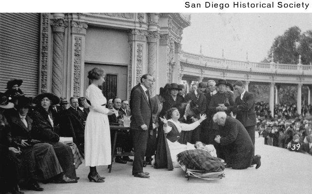 Aimee Semple McPherson at the Spreckels Organ Pavilion 1921.jpg