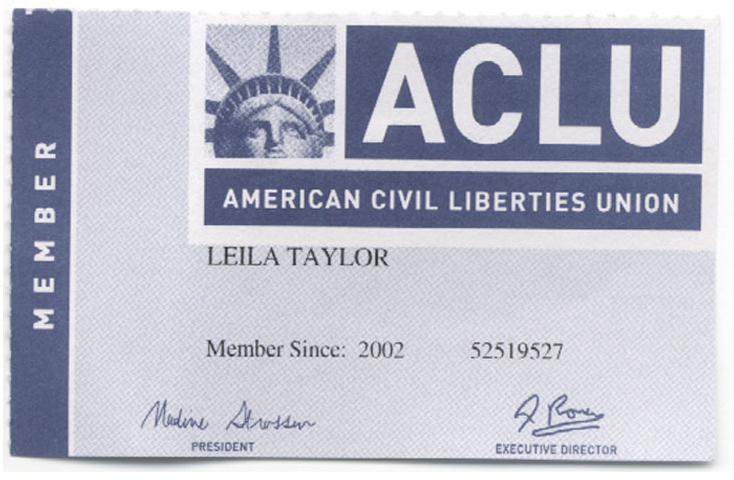 American Civil Liberties logo  w/ Citizen Research & Design
