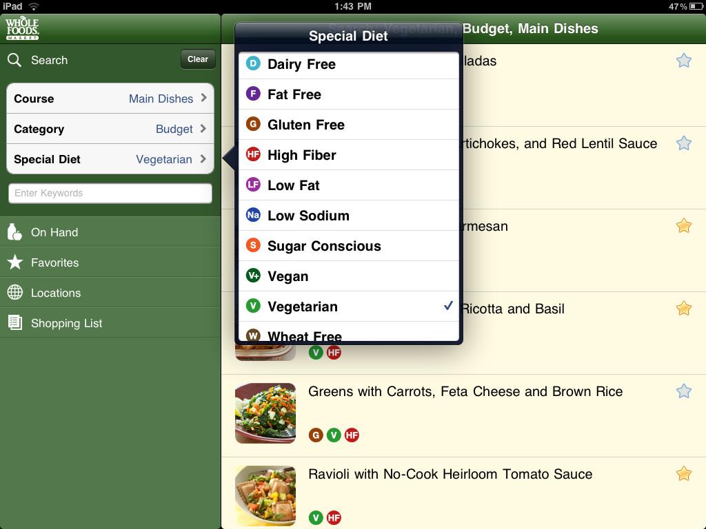 No posee tantas recetas como las anteriores, pero permite hacer decisiones inteligentes a la hora de elegir y preparar los alimentos.