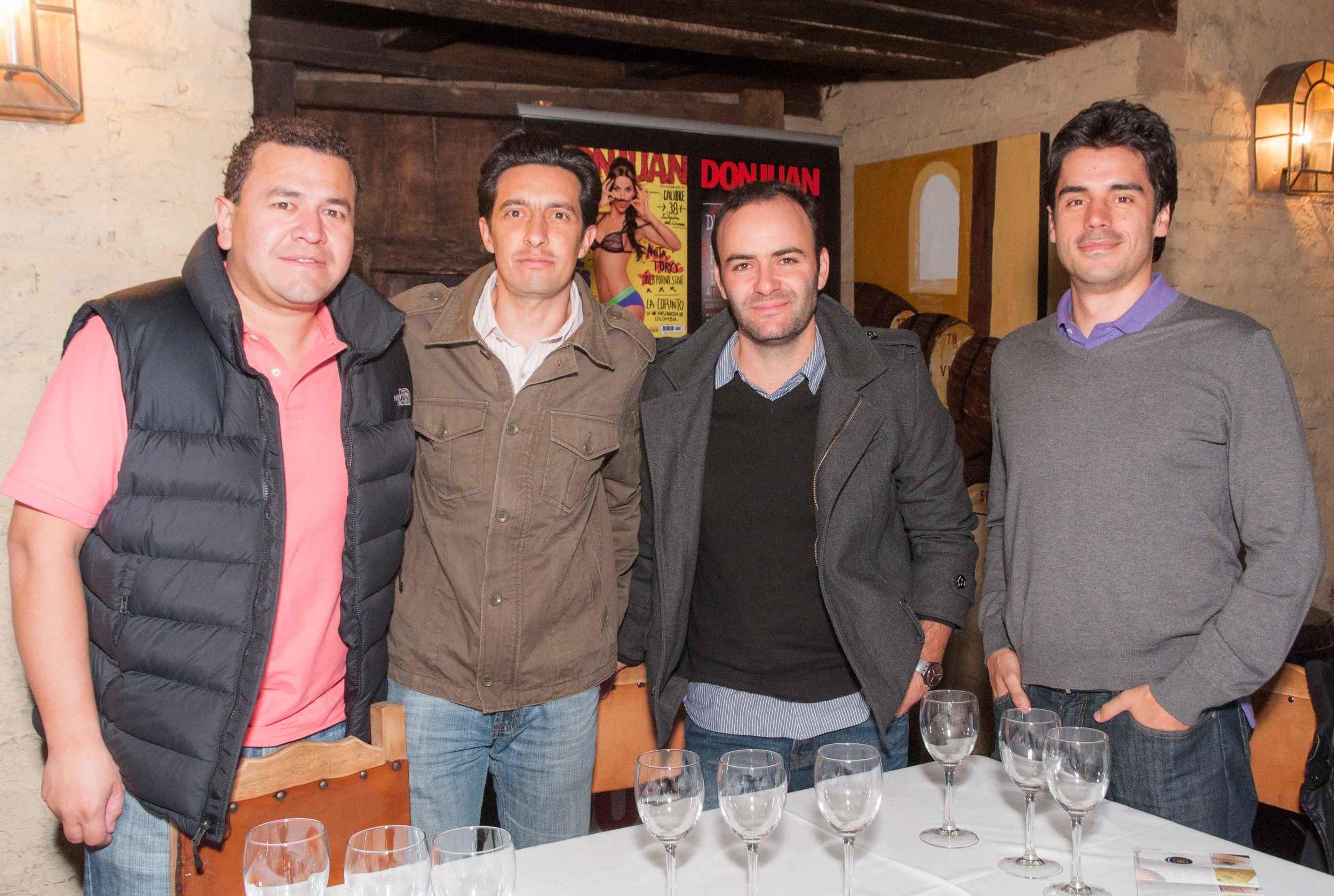 Andrés Suárez, Daniel Guerra, Gabriel Campuzano y Nicolás Hernández
