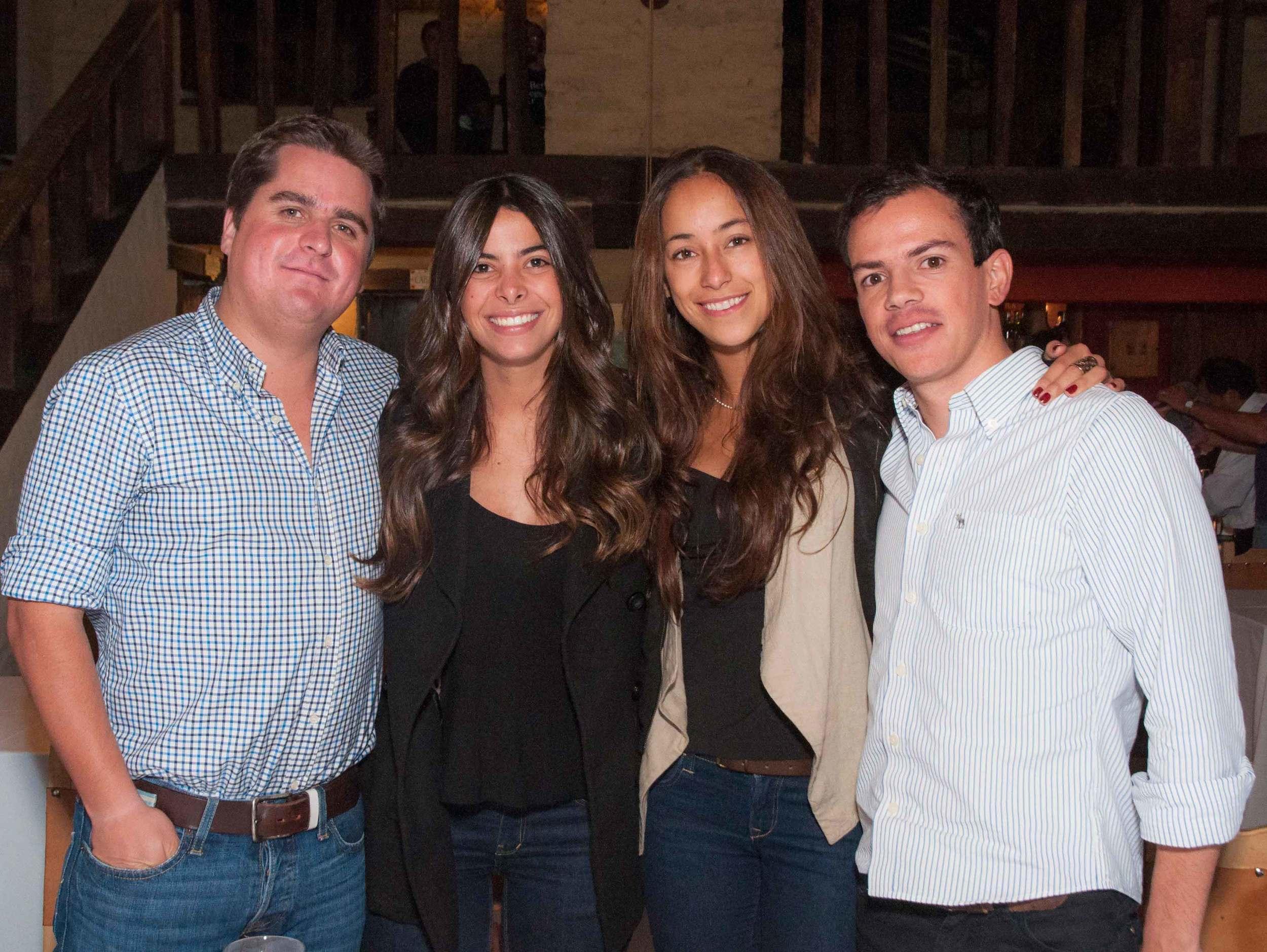 Juan Andrés Brandon, Paula Vivas, Cristina Pineda y Alejandro Monsalve