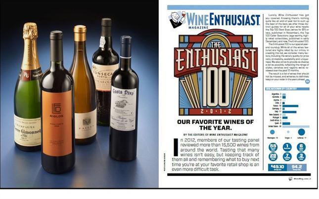 Así destacó la publicación los que son, en concepto de su panel de expertos, los mejores vinos de 2012.