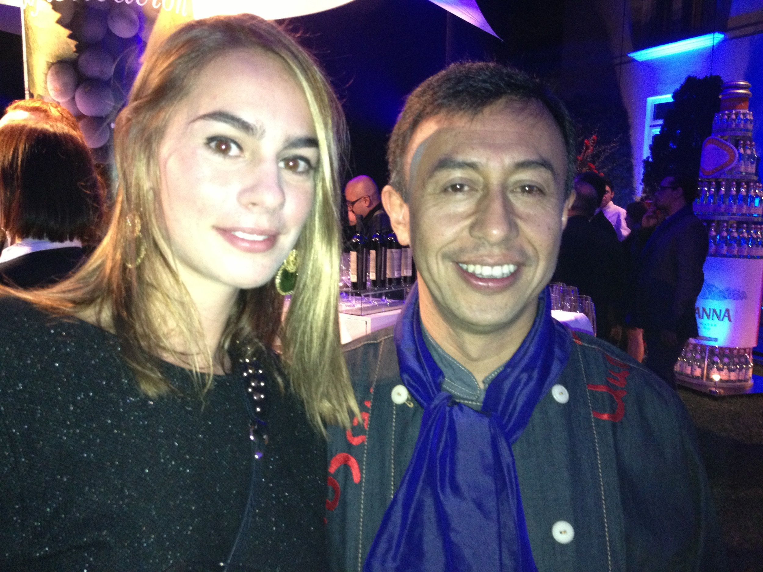 Valentina Jaramillo y el chef Marco Antonio Beltrán de Andrés carnes de res.