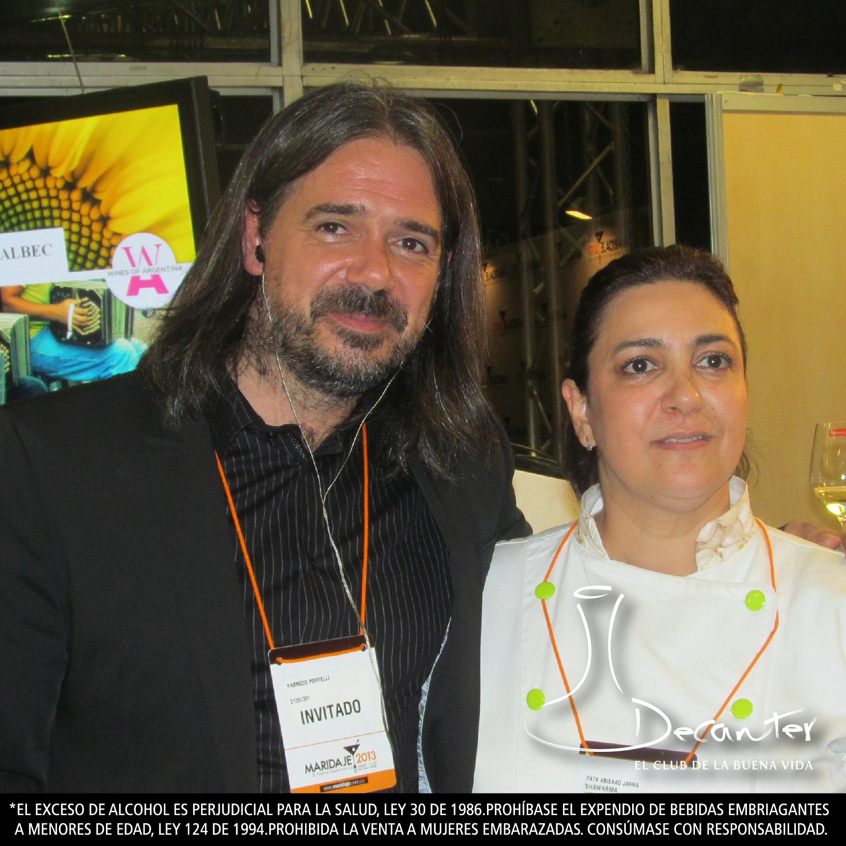 Fabricio Portelli y Tata Abisaad, chef y propietaria del restaurante Shawarma.