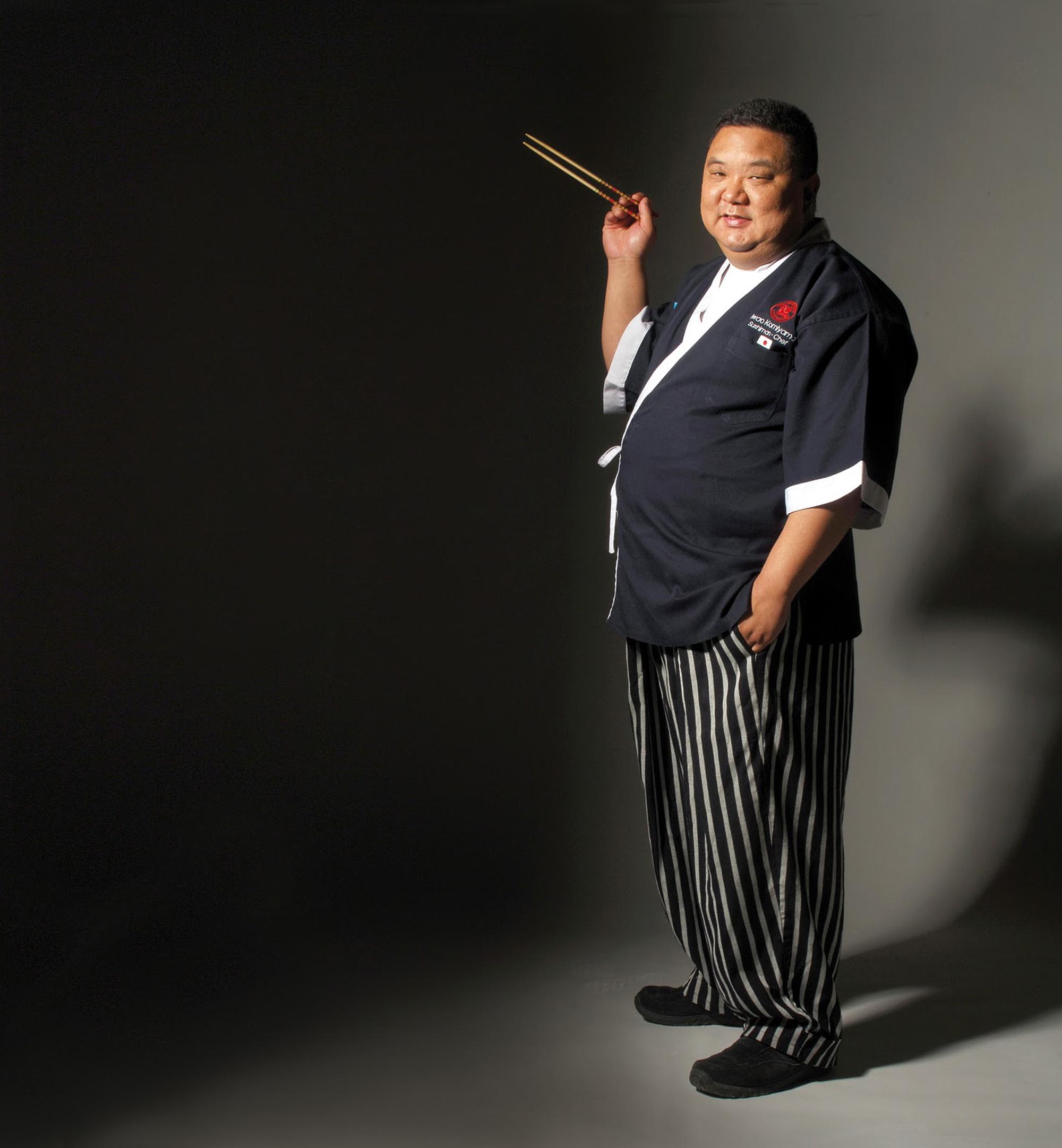 Foto: Cortesía. Con más de 26 años de experiencia, Iwao es el único  Itamae  (maestro japonés especialista en las artes culinarias de la cocina japonesa y sushi) en Argentina.