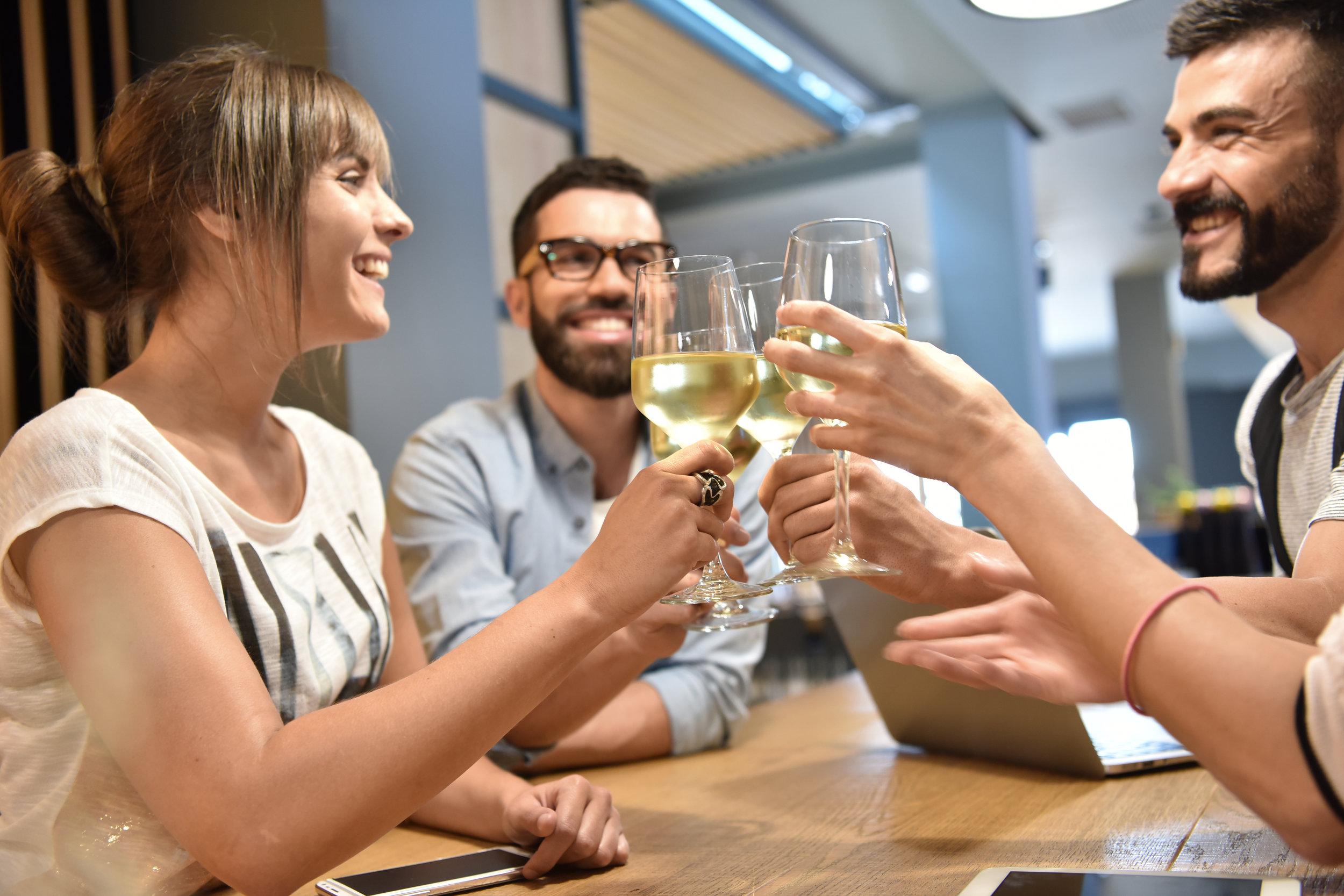 Cata de vinos con amigos