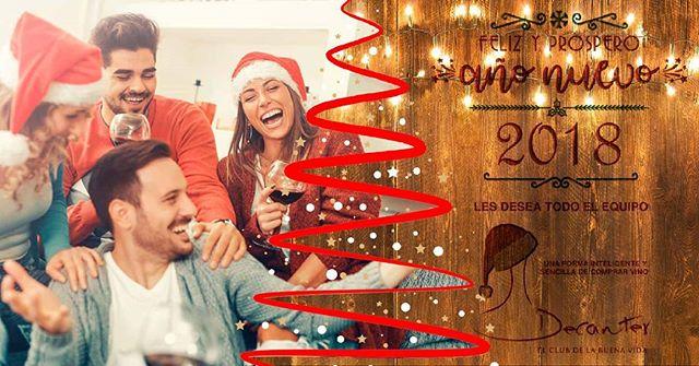 Feliz Año 2018 te desea Club de Vinos Decanter. #felizaño #felizañonuevo #vino #decanter #2018