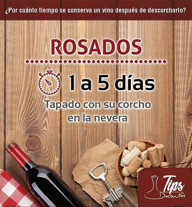 Aprendiendo cada día con nuestros Tips Decanter!!! #tipsdecanter #tips #vinorosado  #vino #decanter