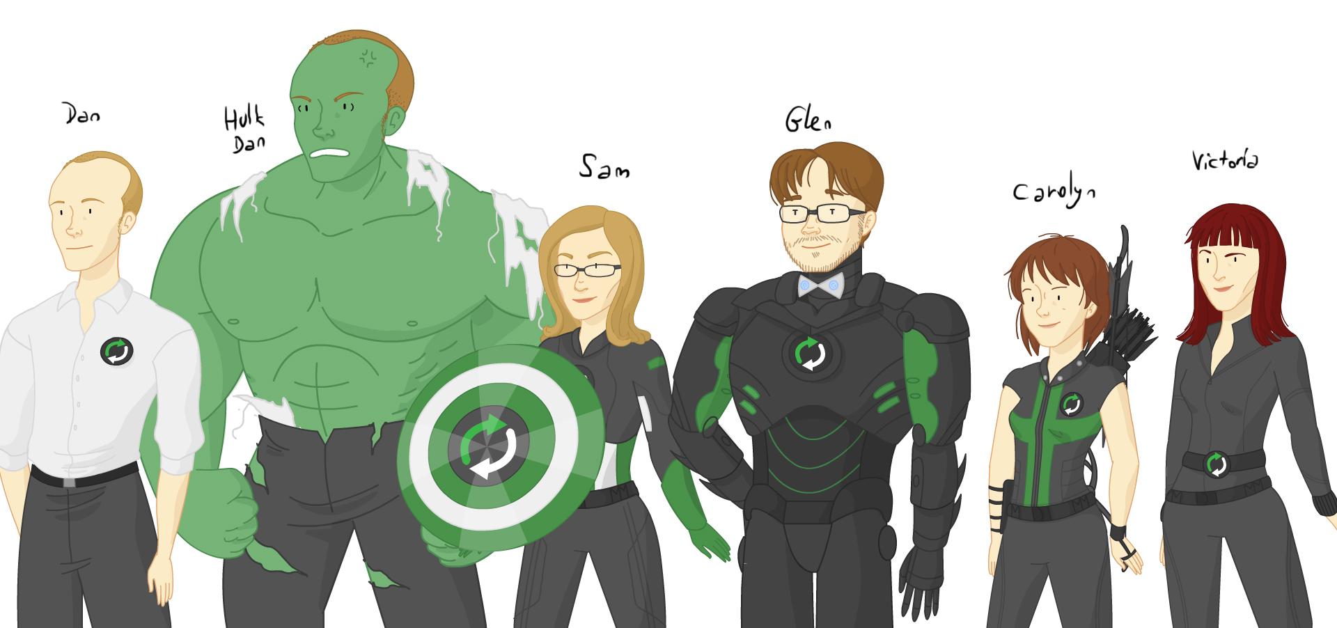 The Geekovengers (image credit Leigh Lahav)