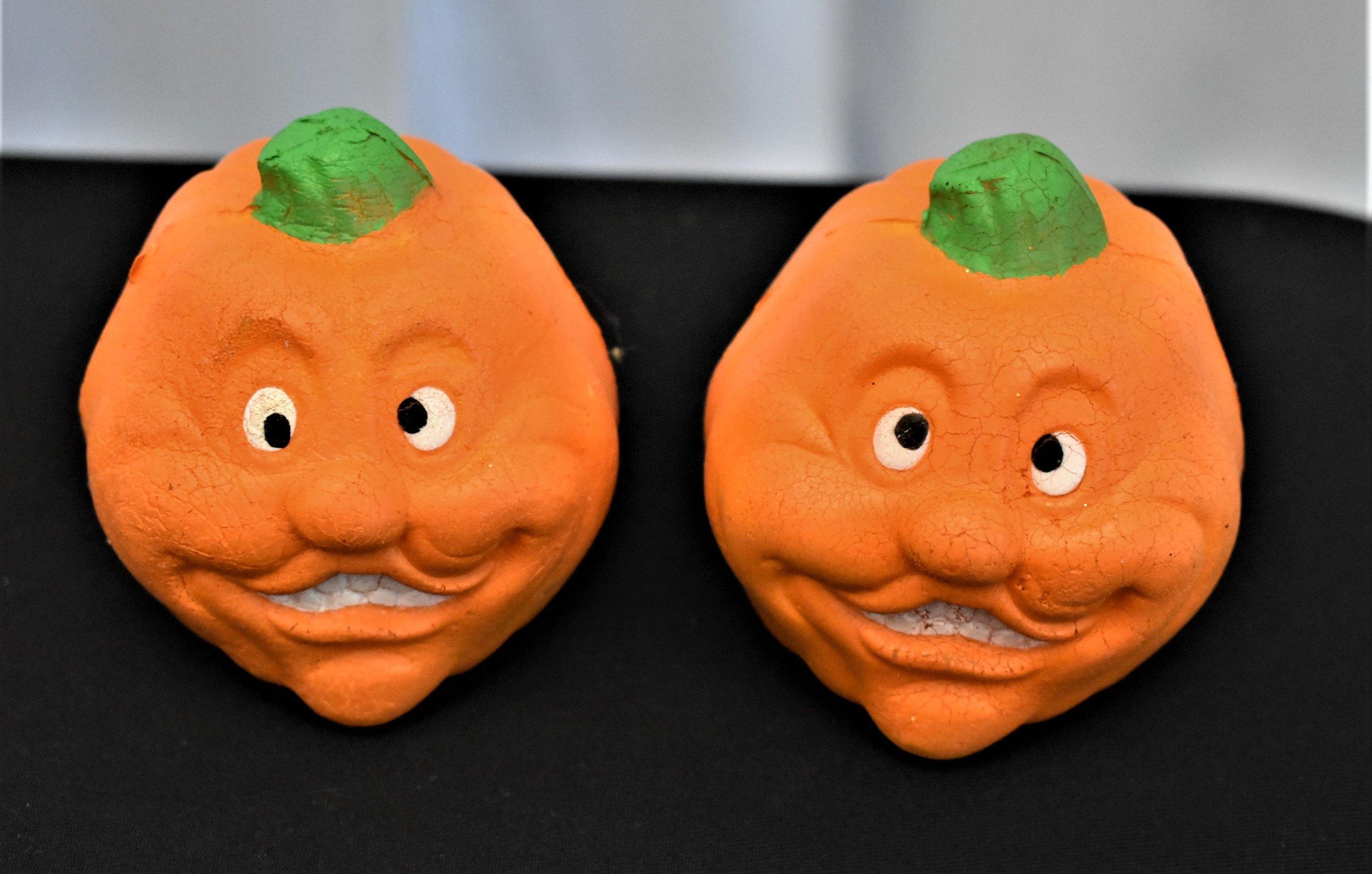 Clay Pumpkin Faces