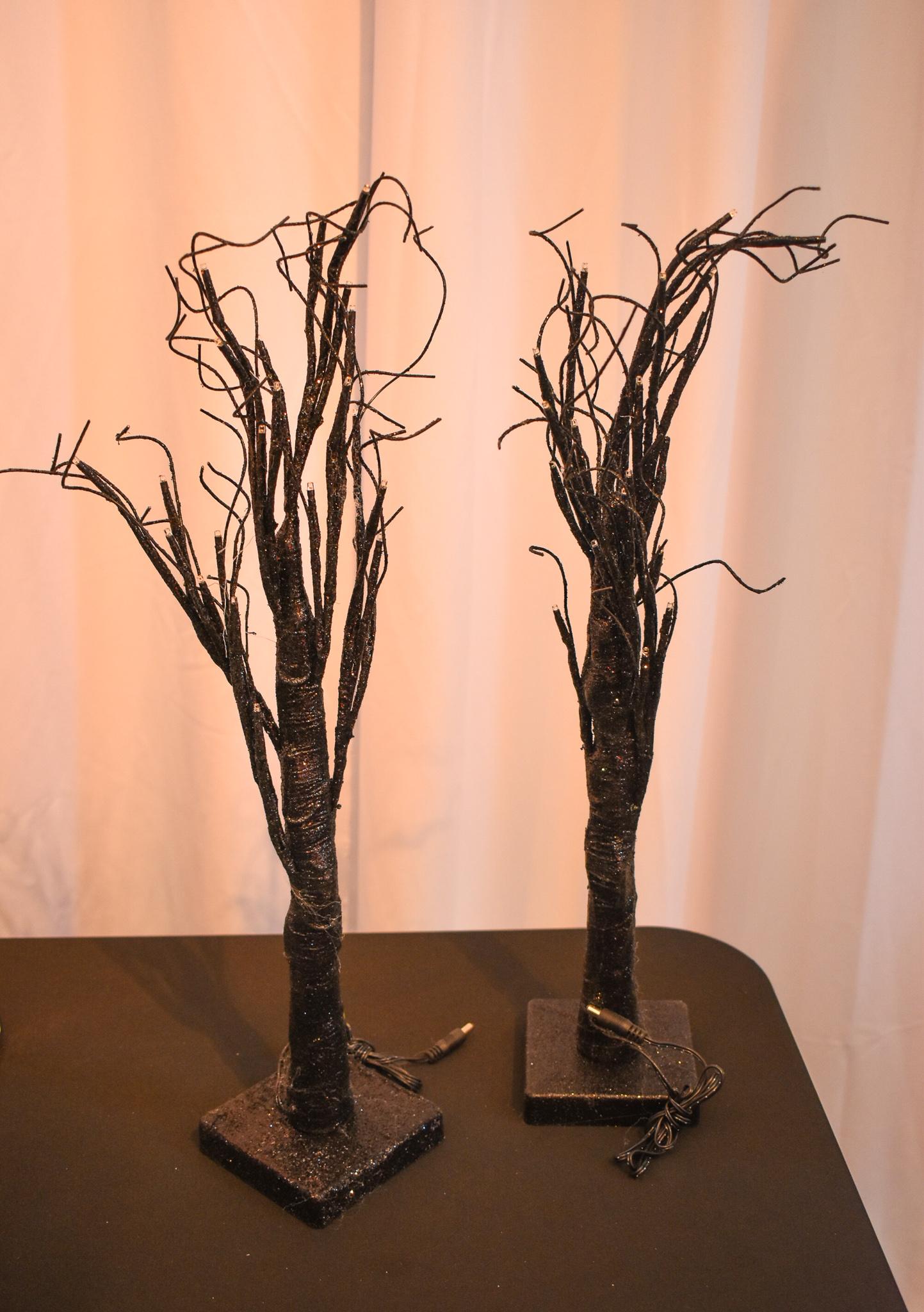 Black Glitter LED Tree (3)