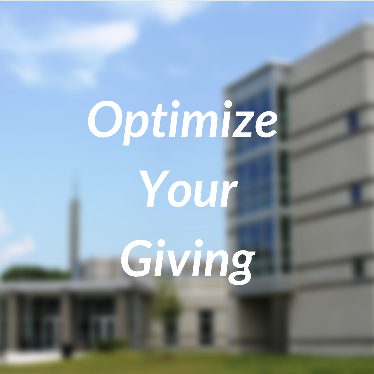 Optimize Your Giving