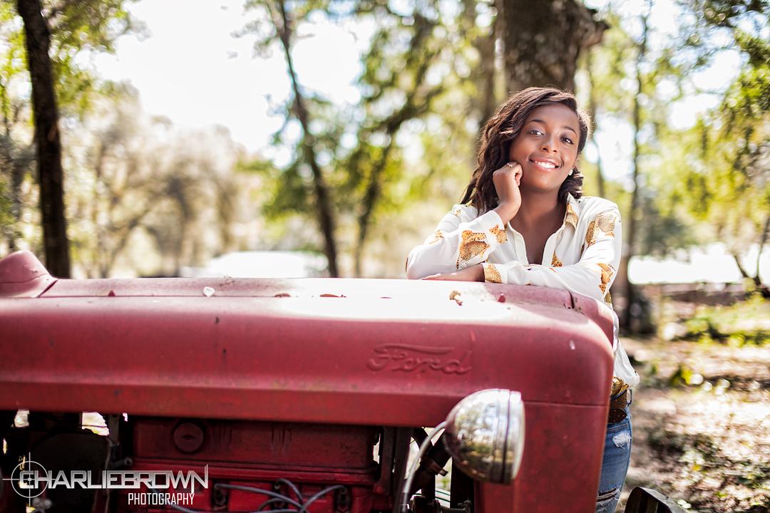 Farm Tractor Senior Session Portrait Photography Citrus County,FL