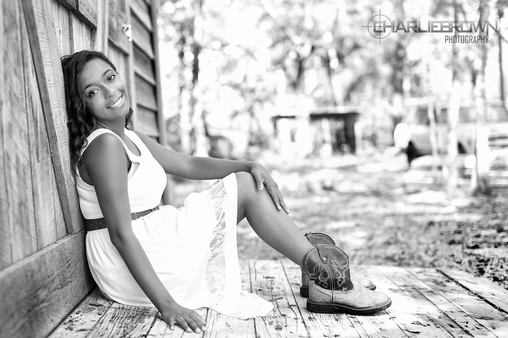 Black and White Senior Portrait Session Central Florida