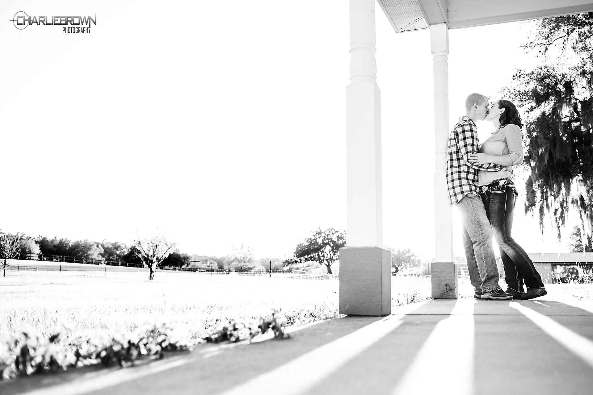 Black n White Engagement Photo Charlie Brown Photography