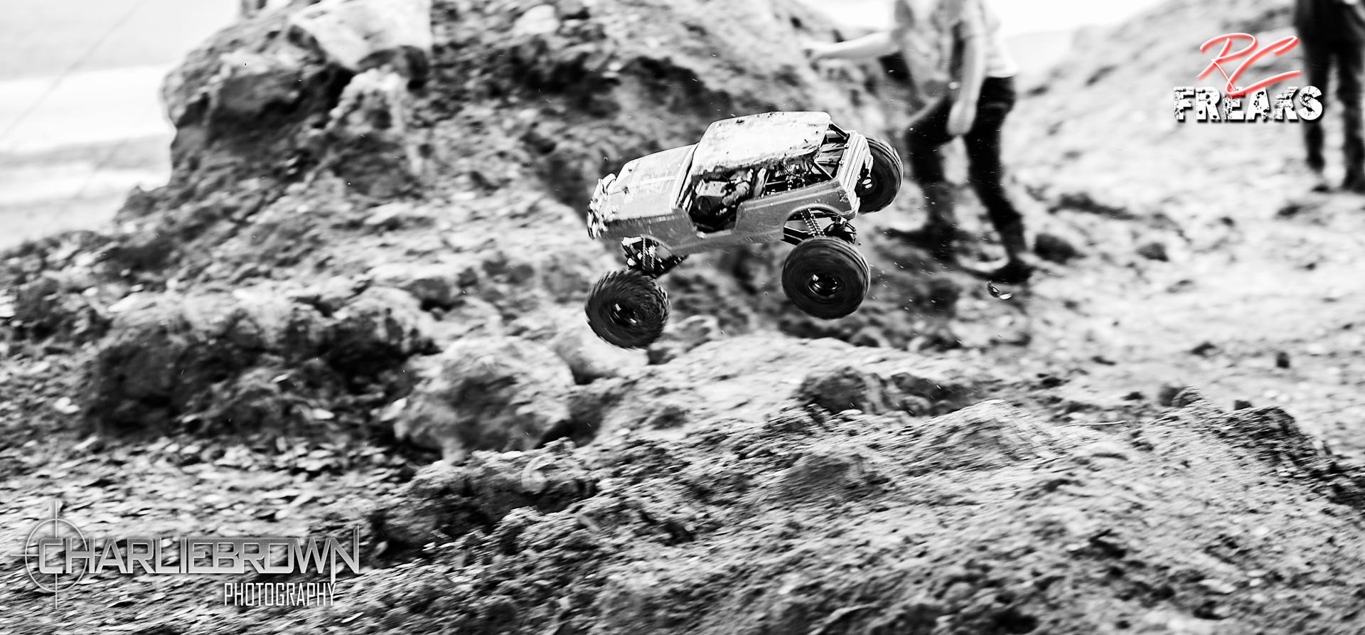 RC Crawler mid air