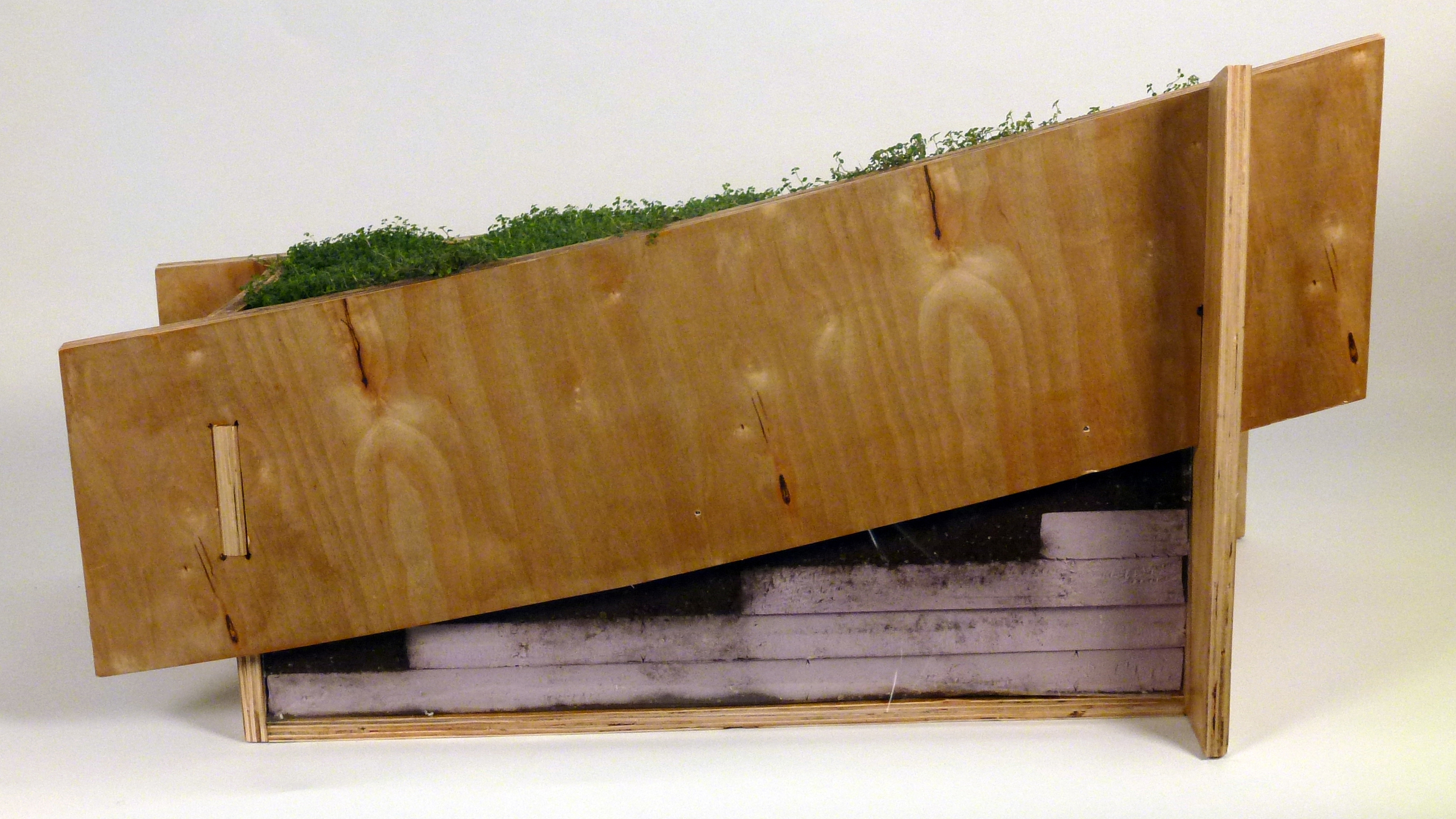 Full-scale prototype of structural joinery and landscape assembly