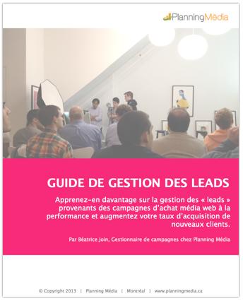 Planning Média vous offre un guide de Gestion des Leads.
