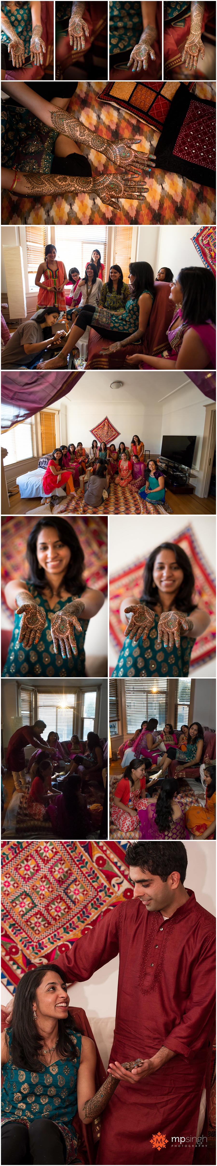 Bay area Indian Mehndi ceremony