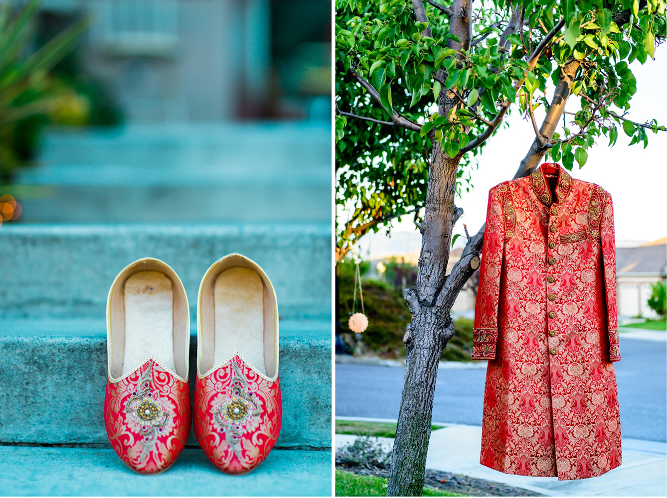 Groom's shoes and Sherwani