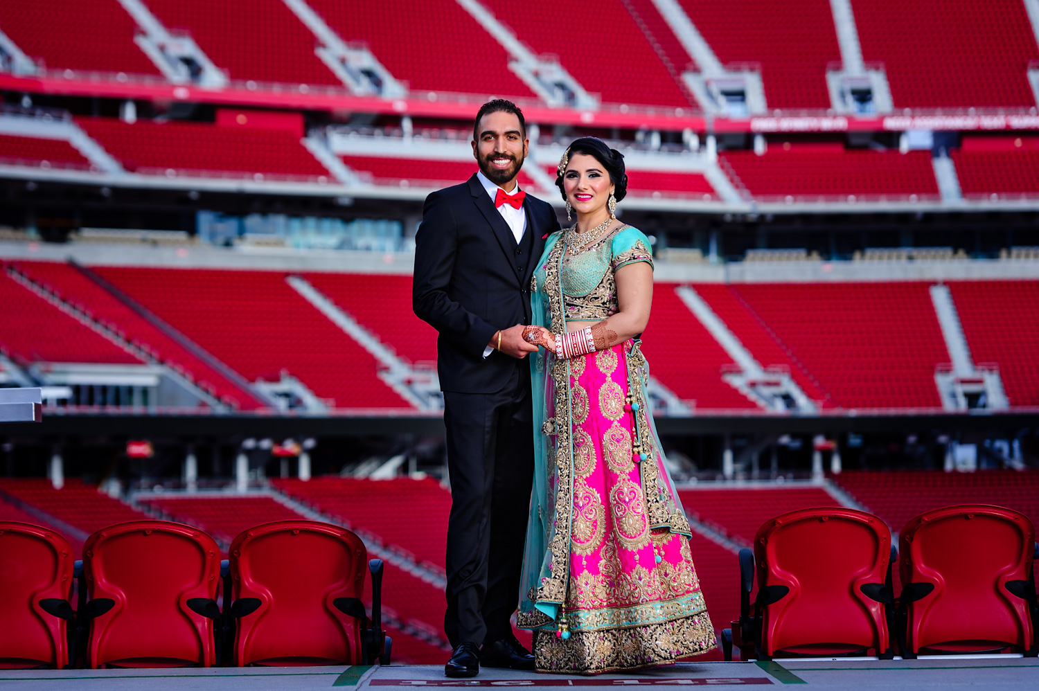 Indian Wedding reception Levi's Stadium